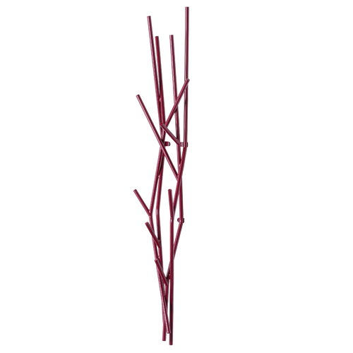 Covo Latva wall coat rack, purple red
