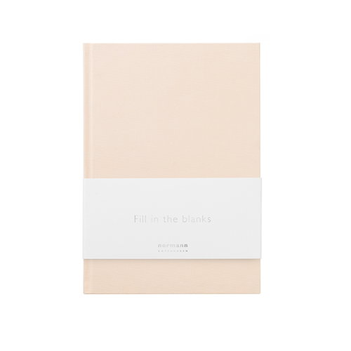 Normann Copenhagen Daily Fiction muistikirja, pieni, pale pink