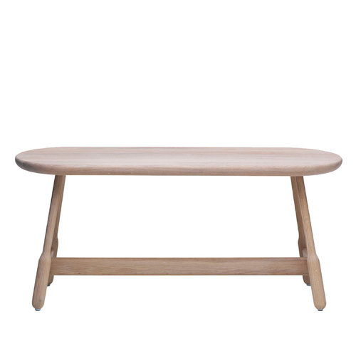 Massproductions Albert bench, white oiled oak