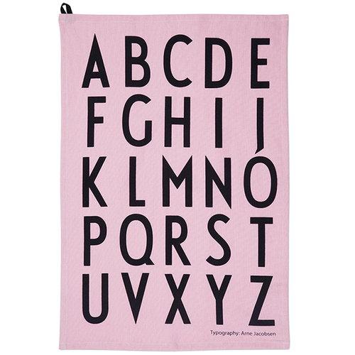 Design Letters Arne Jacobsen keitti�pyyhe, roosa, 2 kpl