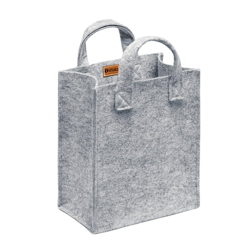 Iittala Meno home bag small, grey felt
