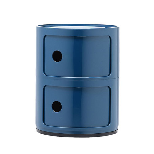 Kartell Componibili storage unit, 2 modules, blue