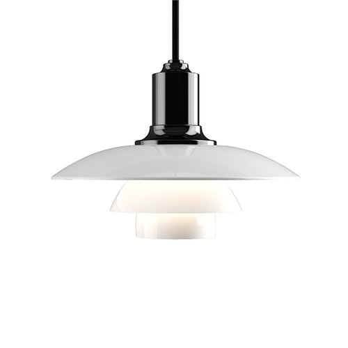 Louis Poulsen PH 2/1 pendant, metallised black, opal glass