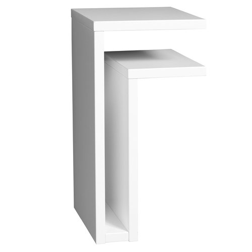 Maze F-shelf, right, white