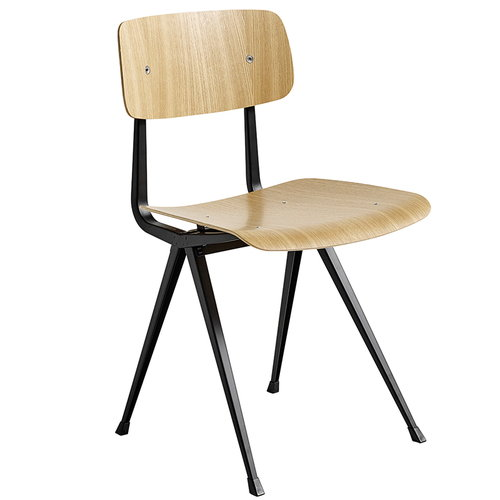 Hay Result chair, black - lacquered oak