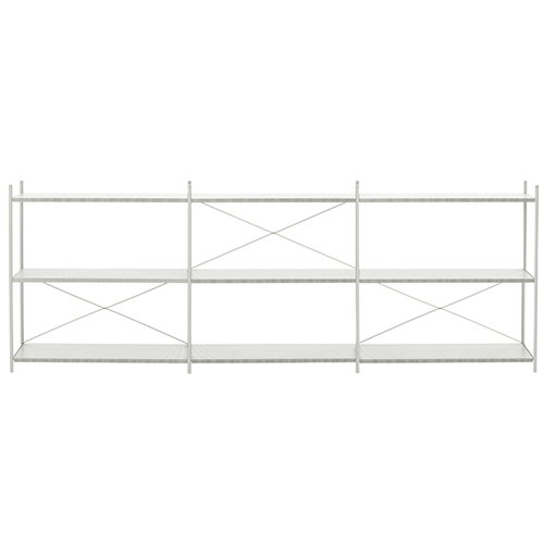 Ferm Living Punctual shelf, 3 x 3, grey