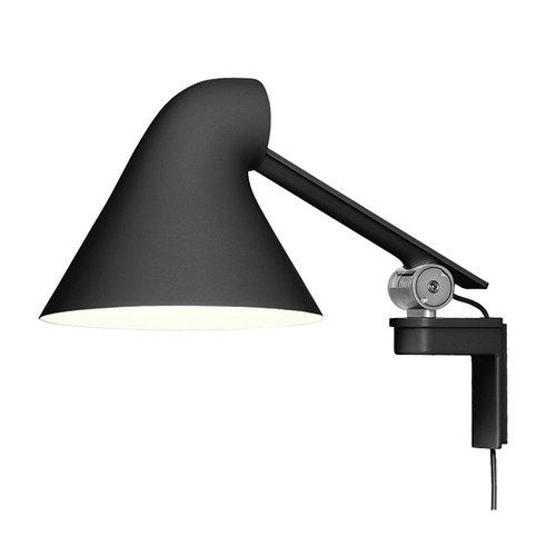 Louis Poulsen NJP wall lamp, short arm, black