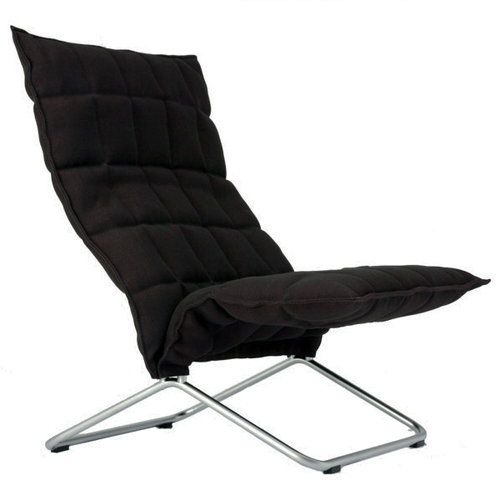 Woodnotes K chair, black, wide