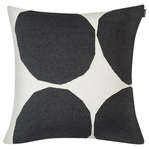 Marimekko Fodera per cuscino Kivet 50 x 50 cm, bianco naturale - nero
