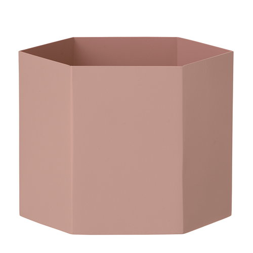 Ferm Living Hexagon ruukku, XL, roosa