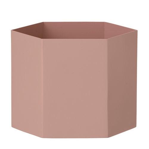 Ferm Living Hexagon pot XL, rose