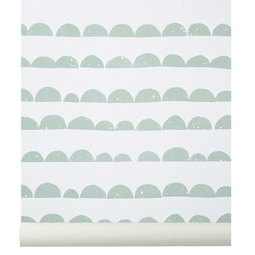 Ferm Living Half Moon wallpaper, mint