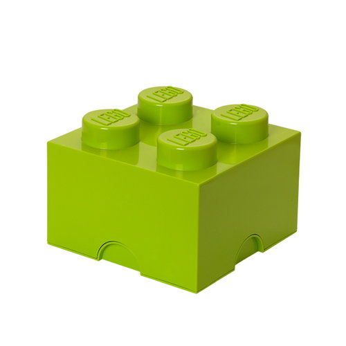 Room Copenhagen Lego Storage Brick 4, lime