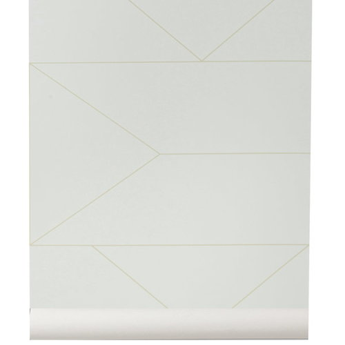 Ferm Living Lines wallpaper, off-white