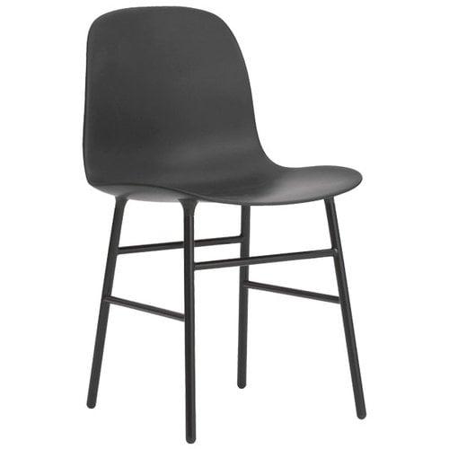 Normann Copenhagen Form chair, steel base, black