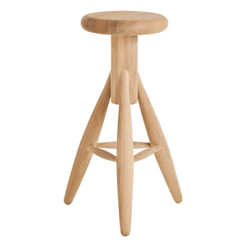 Artek Rocket bar stool, oak