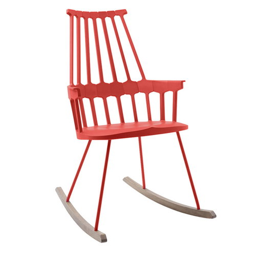 Kartell Comback rocking chair, red