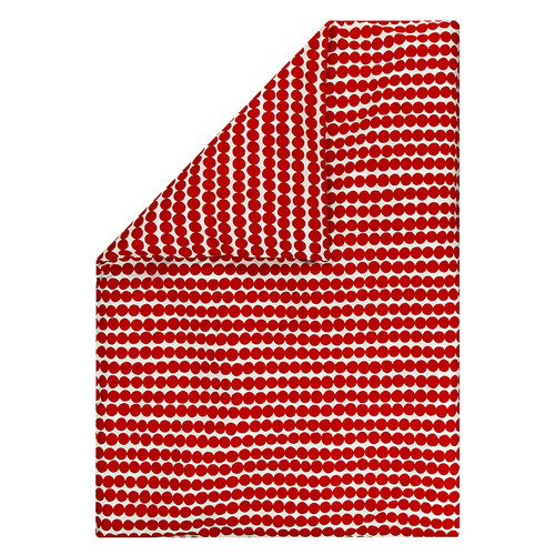 Marimekko Räsymatto duvet cover, red-white
