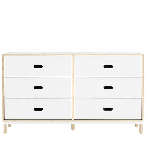 Normann Copenhagen Kabino dresser with 6 drawers, white