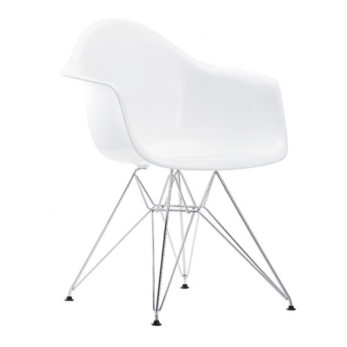 Vitra Eames DAR tuoli, valkoinen - kromi