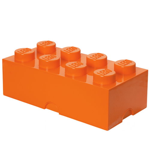 Room Copenhagen Lego Storage Brick 8, orange
