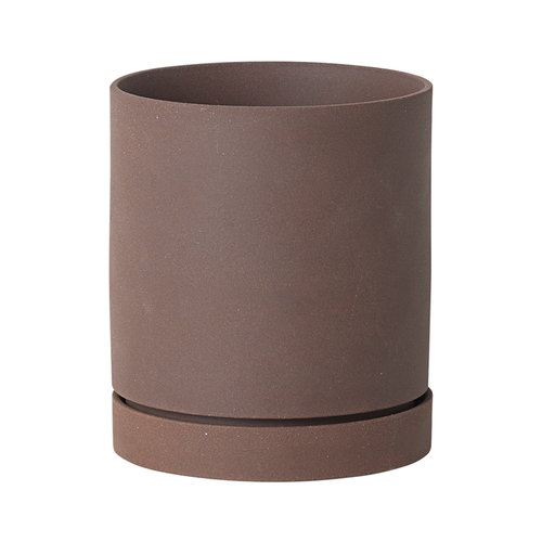 Ferm Living Sekki pot, L, rust