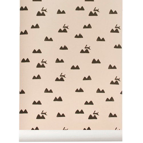 Ferm Living Rabbit tapetti, roosa