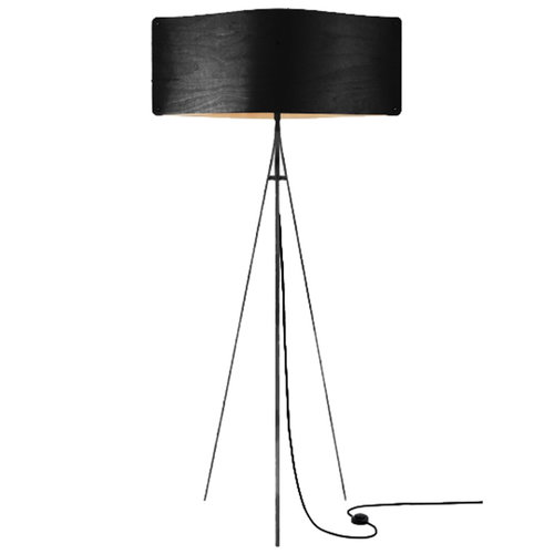 Finom Wide floor lamp, black