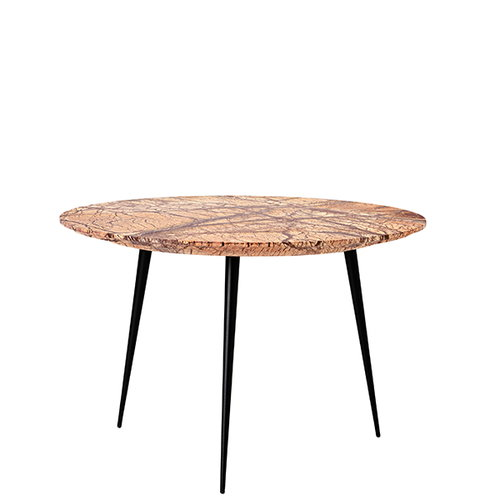 Mater Disc side table, small, jungle brown marble