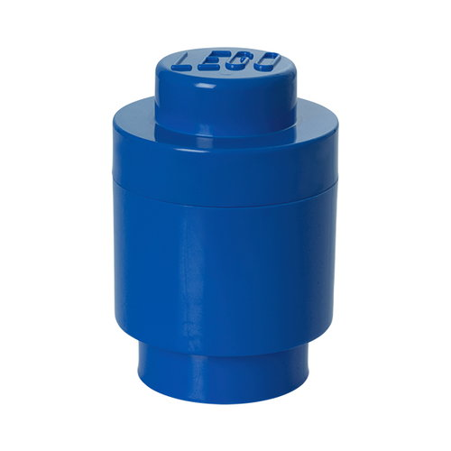 Room Copenhagen Lego Storage Brick 1 round, blue