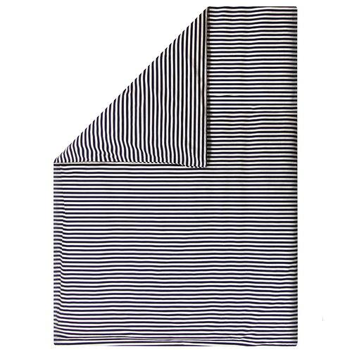 Marimekko Tasaraita duvet cover, off-white - dark blue