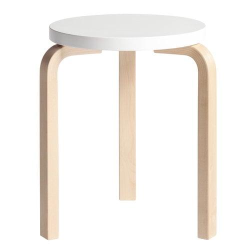 Artek Aalto stool 60, white - birch