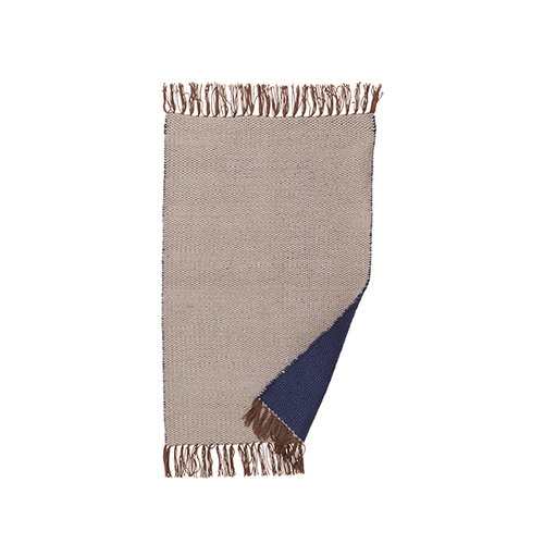 Ferm Living Nomad rug, small, dark blue