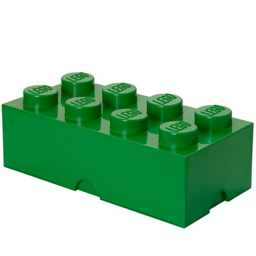 Room Copenhagen Lego Storage Brick 8, green
