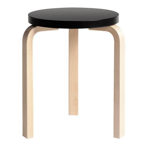 Artek Aalto stool 60, black - birch