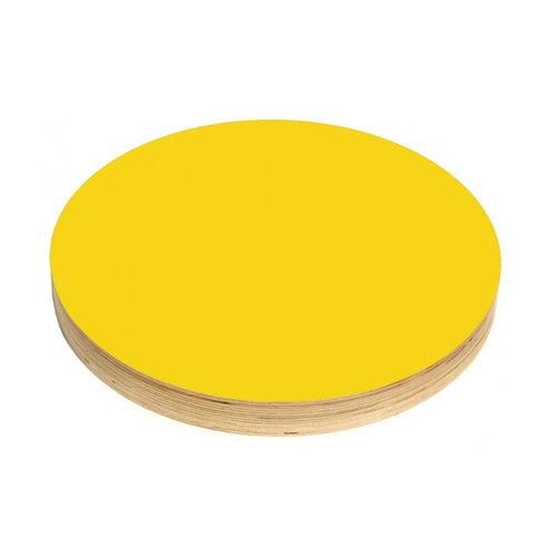 Kotonadesign Lavagna magnetica piccola rotonda, gialla