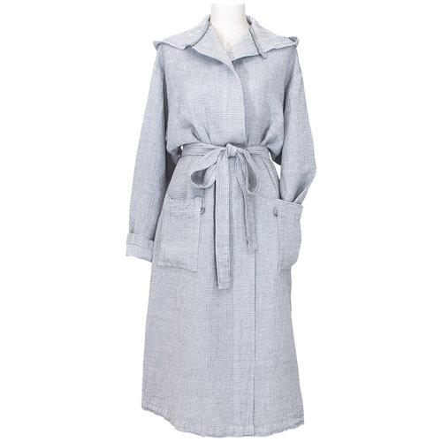 Lapuan Kankurit Terva bathrobe with hood, white - grey
