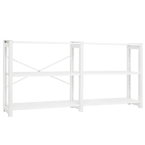 Lundia Classic open shelf, wide, white