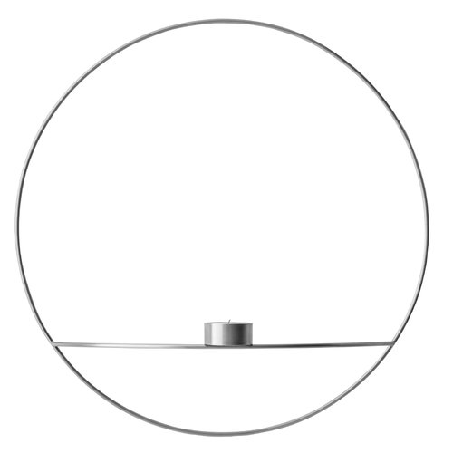 Menu POV Circle tealight holder, L, silver
