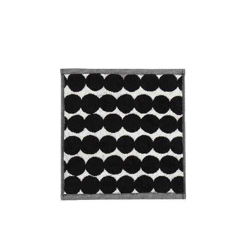 Marimekko R�symatto mini towel, black-white