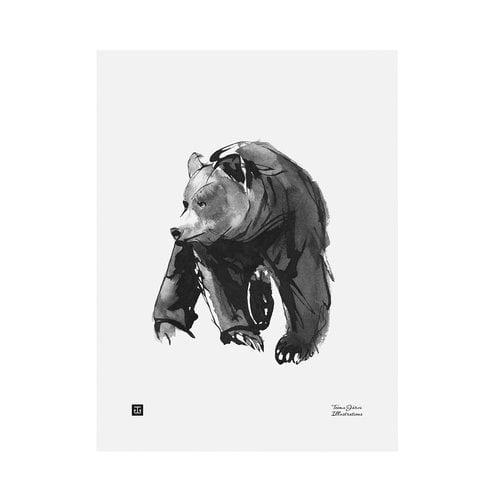 Teemu Järvi Illustrations Lempeä karhu juliste, 30 x 40 cm