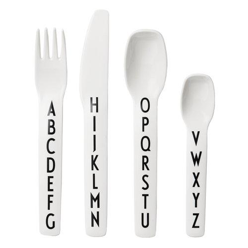 Design Letters Arne Jacobsen kids melamine cutlery