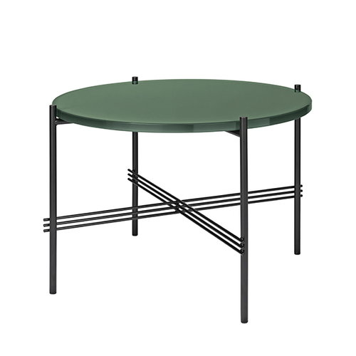 Gubi TS coffee table, 55 cm, black - green glass