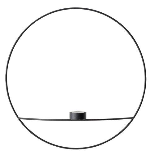 Menu POV Circle tealight candle holder, L, black