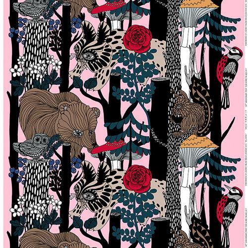 Marimekko Veljekset kangas, vaaleanpunainen