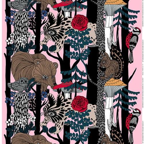 Marimekko Veljekset fabric, pink
