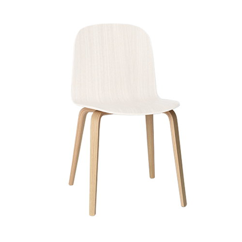 Muuto Visu chair, wood frame, white-natural