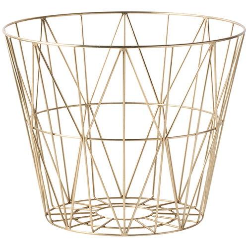 Ferm Living Wire basket, brass, large