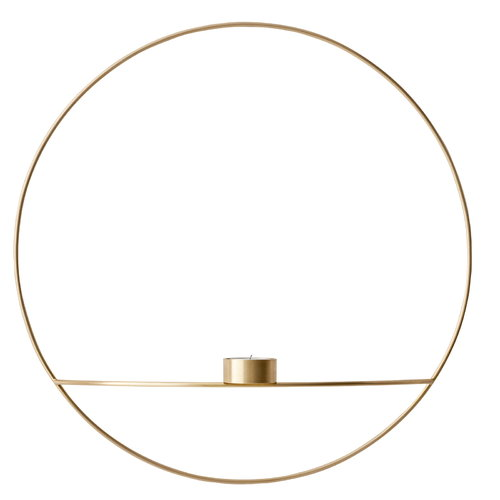 Menu POV Circle tealight holder, L, brass