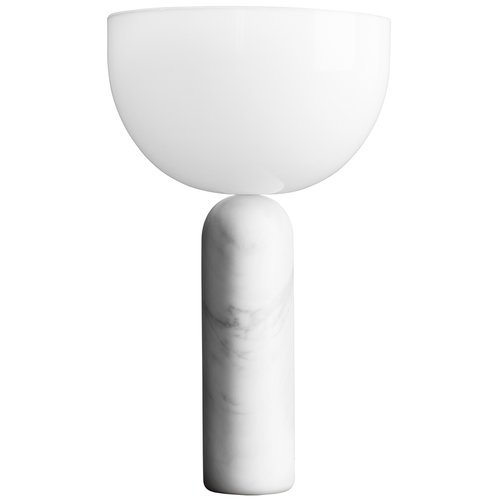 New Works Kizu table lamp, large, white marble